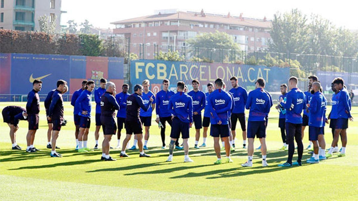Valverde ya trabaja con todo el grupo, a excepción de Busquets y Ansu Fati