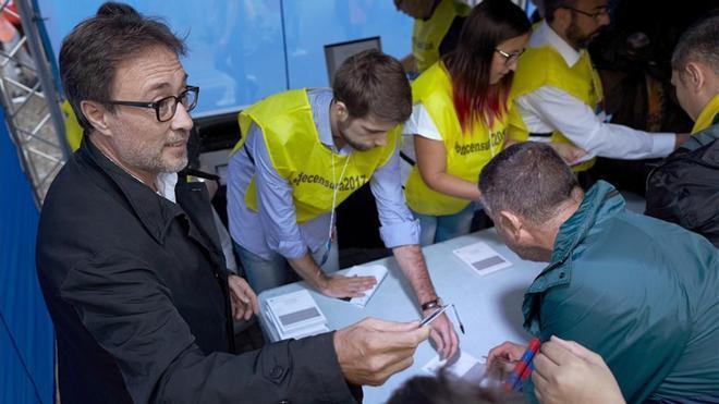Benedito, el sábado en el Camp Nou