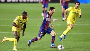 Messi, ante el Villarreal la pasada temporada