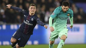 Leo Messi y Verratti, en el Parque de los Príncipes