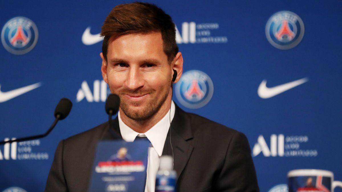 Lo más destacado de la rueda de prensa de Messi con el PSG