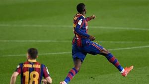 ¡Qué golazo Ousmane! Dembélé abrió la lata y escenificó con este gol lo que estaba por venir