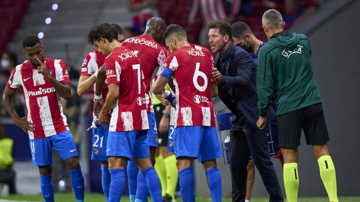 El Atlético de Madrid se entrena por última vez antes de viajar a Milán