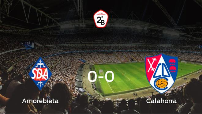 El Amorebieta y el Calahorra concluyen su enfrentamiento en el Urritxe sin goles (0-0)