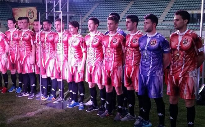 El Palencia presentó una impactante equipación