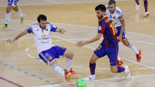 El Barça no pudo pasar del empate ante Fútbol Emotion Zaragoza