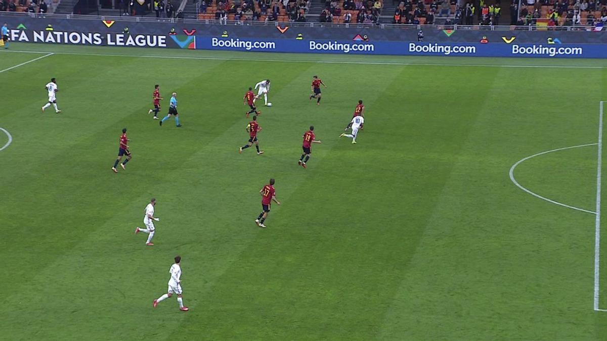 El VAR dio por bueno el gol de Mbappé ante España a pesar de estar en fuera de juego