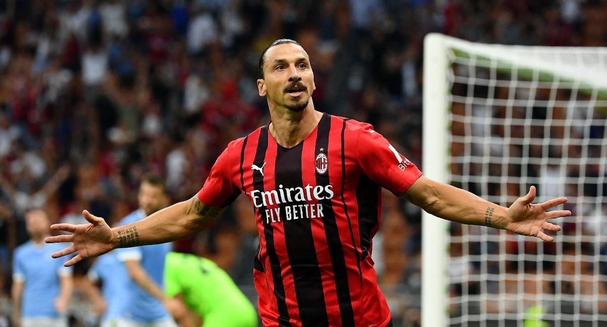 Ibrahimovic celebra su gol ante la Lazio
