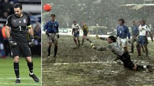 El debut de Buffon con Italia en 1997
