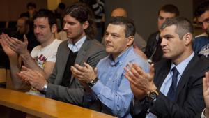 Masip y Pasqui, junto a Nagy y a Iker Romero cuando estaban juntos en la sección