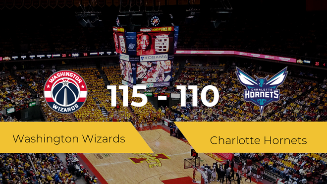 Victoria de Washington Wizards ante Charlotte Hornets por 115-110