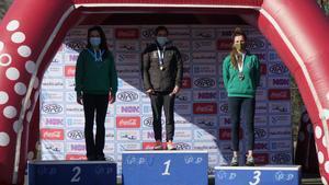 Podio K1: Maialen Chourraut (oro), Carmen Costa (plata) y Julia Cuchi (bronce)