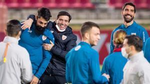 La plantilla del Athletic se ejercitó en la Ciudad Deportiva del Sevilla