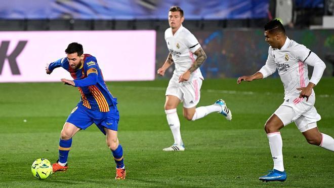 El 1x1 del Barça en el Clásico en el descanso