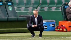 Fran Escribá, durante un partido en el Martínez Valero.