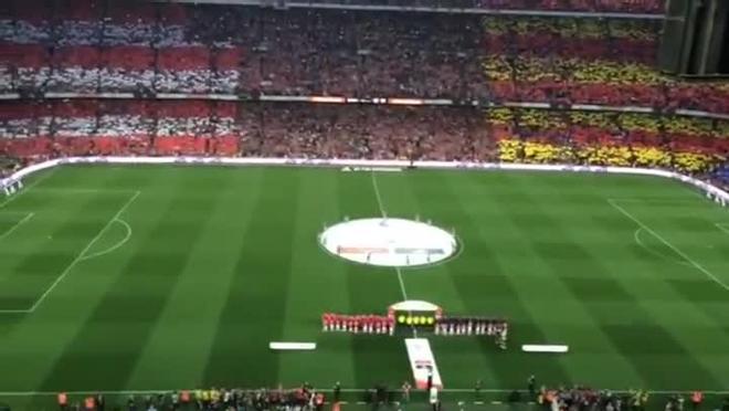 Así sonó la pitada al himo español en la Final de la Copa del Rey