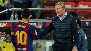 Koeman: El Barça siempre es mejor con Messi