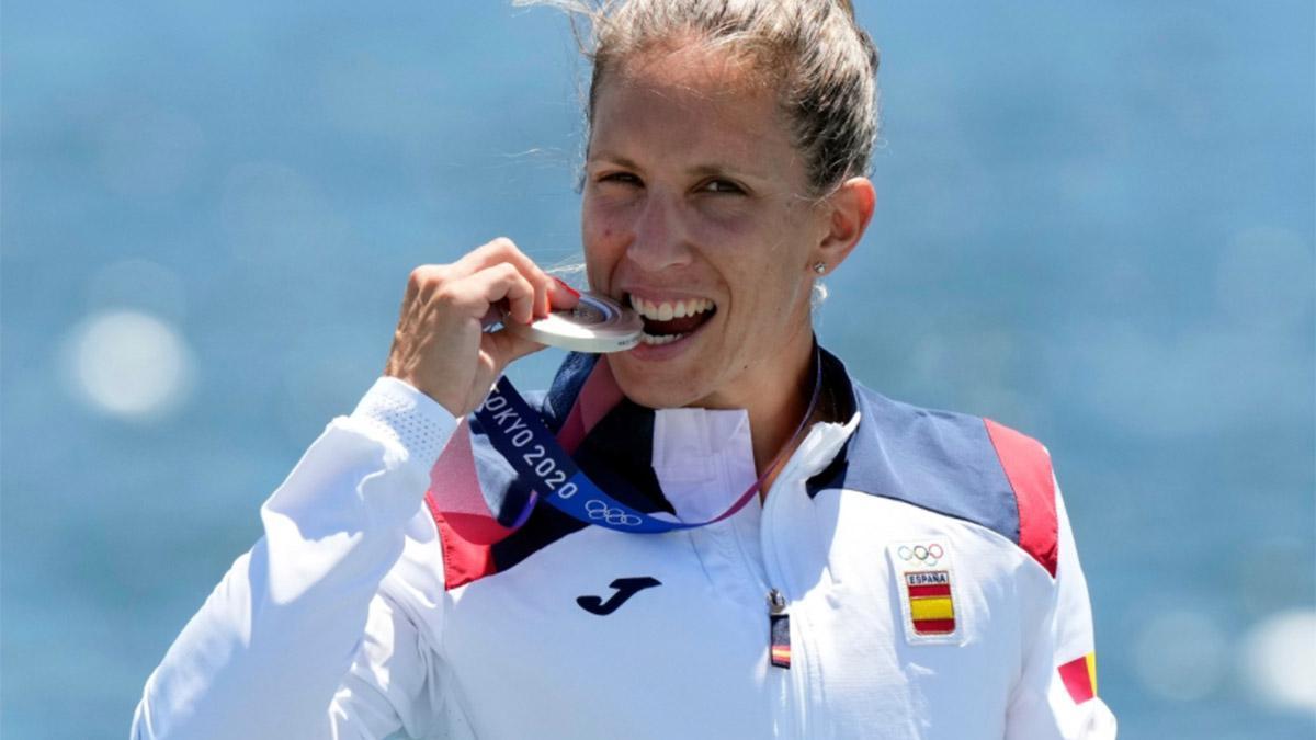 Teresa Portela, plata en el K1 200