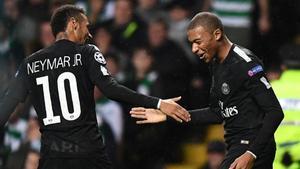Neymar y Mbappé se lo pasaron en grande