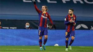 Griezmann encontró el camino del gol en la final de la Supercopa
