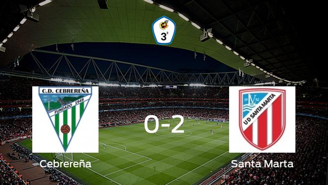 El Santa Marta se impone a la Cebrereña por 0-2