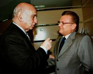 Pedro Cortés junto a Nicolau Casaus en una imagen de archivo