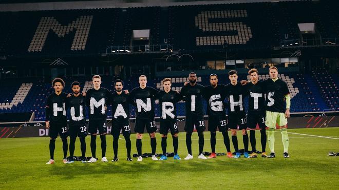 Los jugadores alemanes reclaman la protección de los derechos humanos