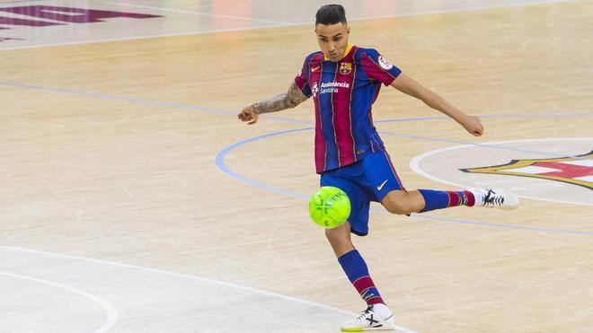 Aicardo, durante un partido del Barça