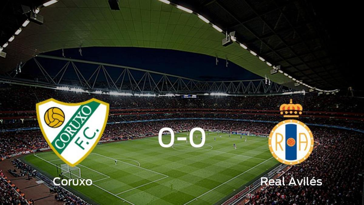 El Coruxo y el Real Avilés se reparten los puntos en un partido sin goles (0-0)