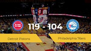 Detroit Pistons logra la victoria frente a Philadelphia 76ers por 119-104