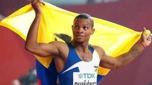 El atleta ecuatoriano Alex Quiñónez, asesinado en Guayaquil