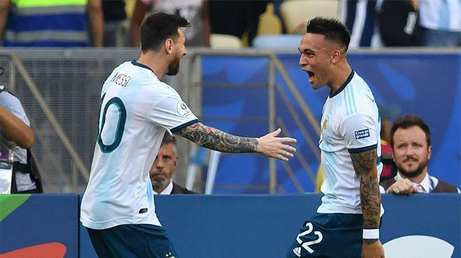 ¡Así de bien se entienden sobre el campo Messi y Lautaro! Disfruten