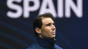 Rafael Nadal tras retirarse del partido de la ronda 1 de la Copa ATP