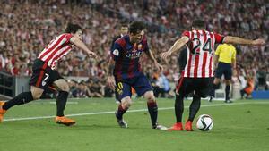 El inicio de la gran jugada de Leo Messi en la final de Copa 2015 que acabó con el primer gol del FC Barcelona