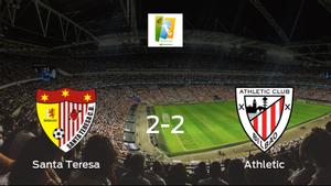 El Santa Teresa Badajoz y el Athletic Club Femenino empatan 2-2 y se reparten los puntos