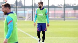 Gerard Piqué vuelve a los entrenamientos con el Barça
