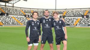 Àlex Corredera, Sergi Maestre y David Concha, de izquierda a derecha