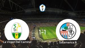 La Virgen Del Camino y el Salamanca CF B finalizan su encuentro liguero con un empate (1-1)