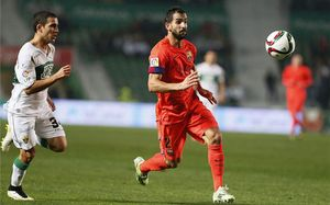 Montoya, durante el partido de vuelta de octavos de final de Copa del Rey ante el Elche