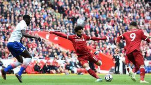 Salah no pudo marcar en este partido
