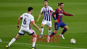 Antoine Griezmann en el partido de LaLiga entre el FC Barcelona y el Valladolid disputado en el Camp Nou.