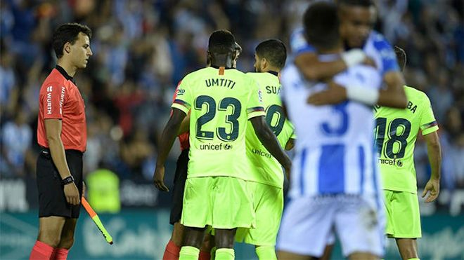 Así fue la inexplicable y sorprendente derrota del Barça en Leganés (2-1)
