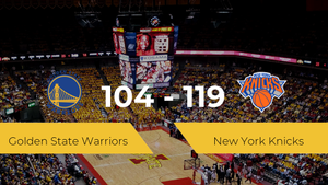 Triunfo de New York Knicks ante Golden State Warriors por 104-119