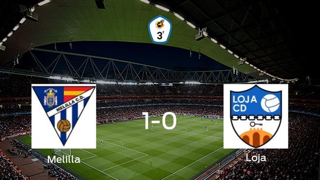 El Melilla CD logra una ajustada victoria en casa ante el Loja (1-0)