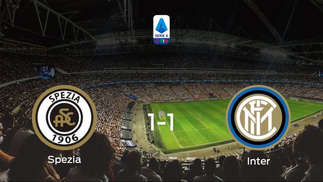 El Inter logra un empate frente al Spezia Calcio (1-1)