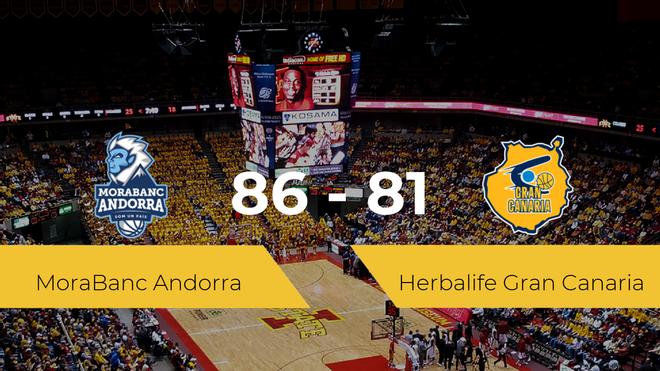 El MoraBanc Andorra se impone por 86-81 frente al Herbalife Gran Canaria