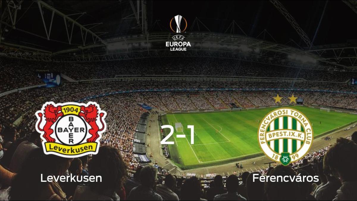 El Bayer Leverkusen vence en casa al Ferencváros por 2-1