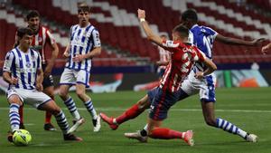 Carrasco marcó el primer gol del Atlético
