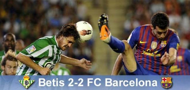 Busquets marcó el primero gol del Barça