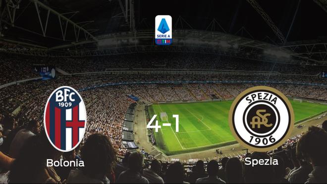 El Bolonia se queda con los tres puntos ante el Spezia Calcio (4-1)